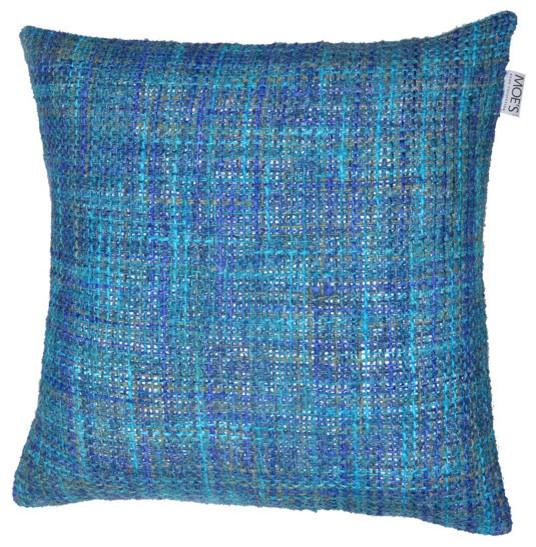 Mosaic Cushion W/feather Insert, Blue.