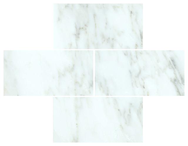 3 x6  Arabescato Carrara Honed Marble Subway Tiles  Set of 8 traditional. 3 x6  Arabescato Carrara Honed Marble Subway Tiles  Set of 8