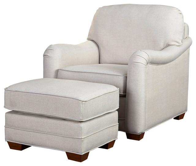 Lovely Lawrence Stationary Chair And Ottoman Set Transitional Armchairs And Accent  Chairs