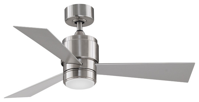 Zonix Indoor/outdoor Ceiling Fan, Brushed Nickel And Led Light, 44.