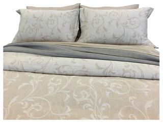 Shop Houzz | Natural Comfort Yue Home Textile Yarn-Dyed Linen Cotton Duvet Cover Set - Duvet ...