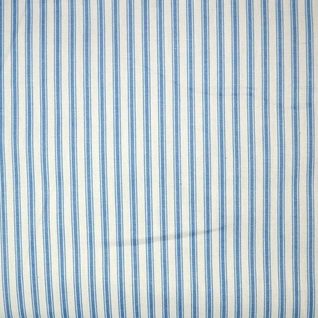 Taf2 Taffeta Ticking Light Blue White Stripe Drapery Fabric