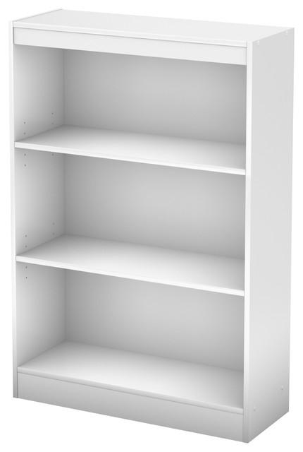 South Shore Axess 3-Shelf Bookcase, Pure White.