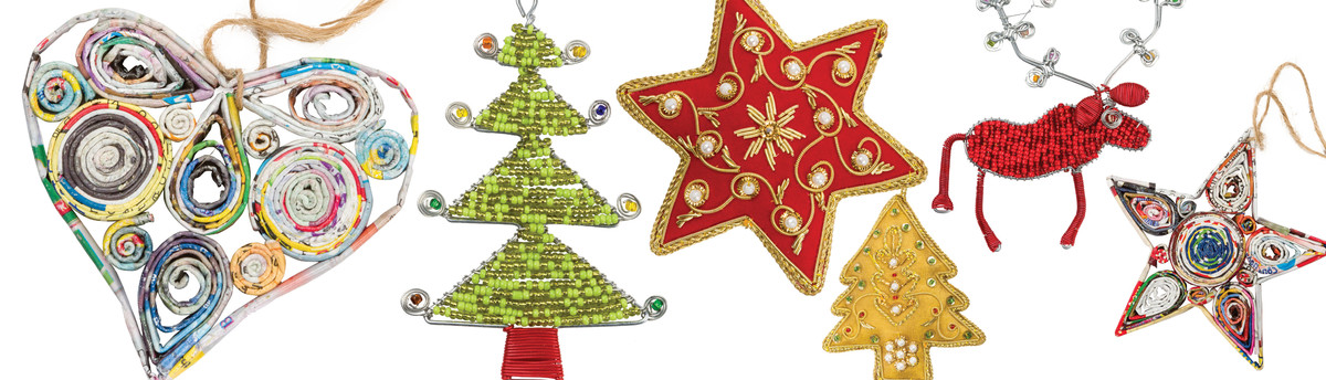 South African Hand Beaded Christmas Ornaments