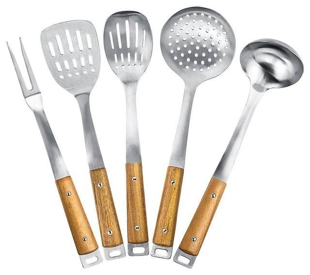Kitchen maestro kitchen maestro stainless steel utensil for Modern kitchen utensil