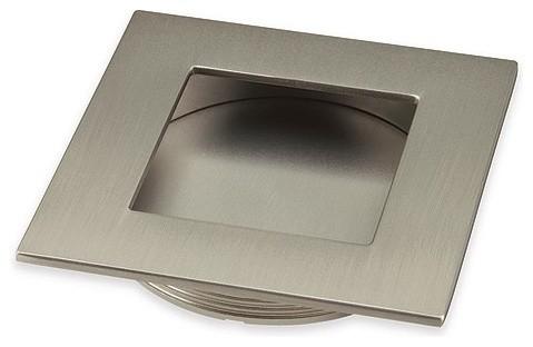 "2"" Old World Ornate Oval Cabinet Knob, Satin Nickel"
