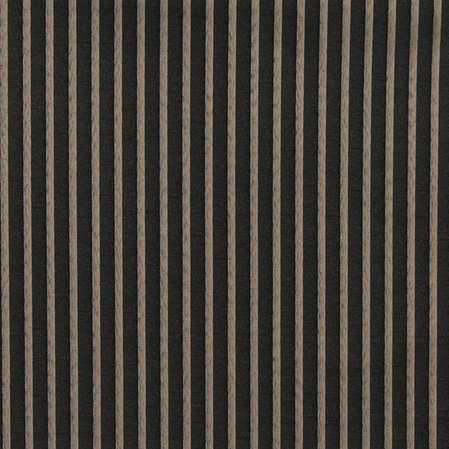 Black And Grey Thin Striped Woven Upholstery Fabric By