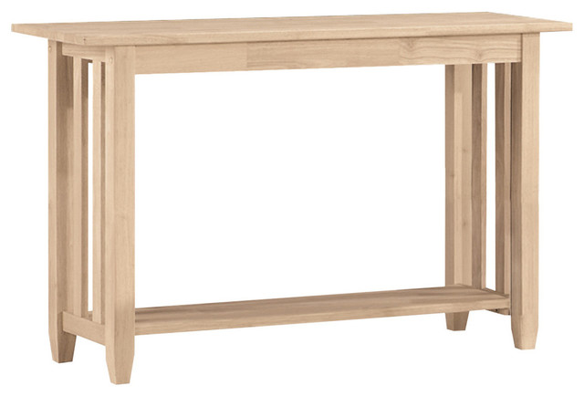 International Concepts Mission Unfinished Sofa Table Console Tables