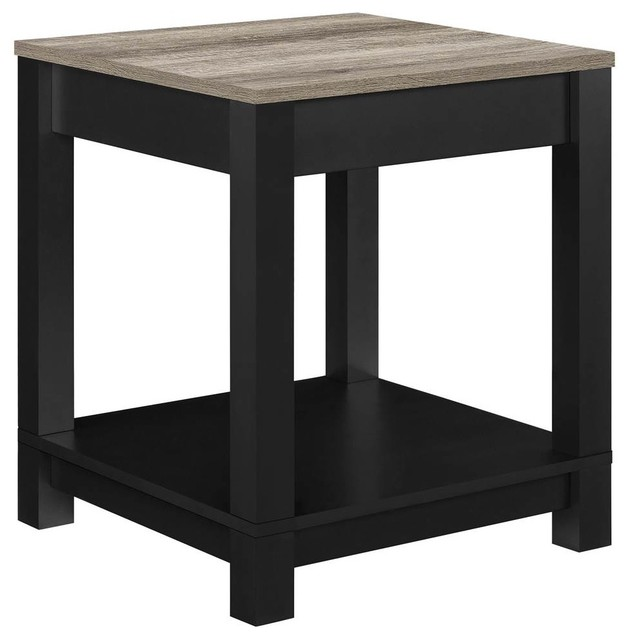 Houzz Black Coffee Table: End Table, Black And Sonoma Oak Finish