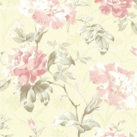 Brewster Wallcovering Juliana Vintage Floral Wallpaper