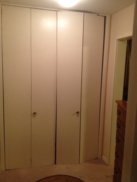 What To Do With Really Tall Old Bi Fold Closet Doors