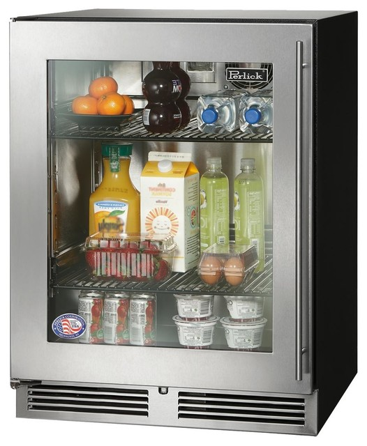 "Perlick Ada Compliant Series 24"" Built-In Refrigerator, Right Hinge."