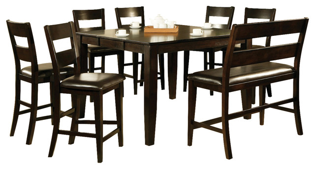 Steve Silver Victoria 8 Piece Counter Height Set With Leaf
