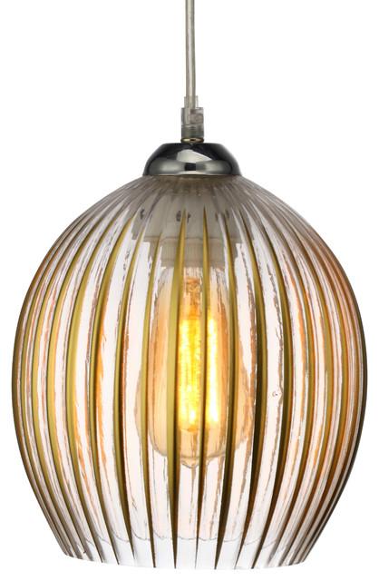 Ambrose Iron And Glass Pendant Lamp.