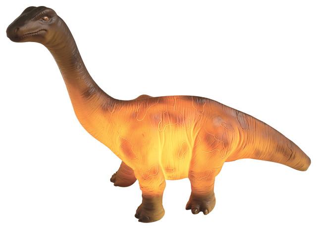Dinosaur Resin Table Lamp, Brontosaurus.