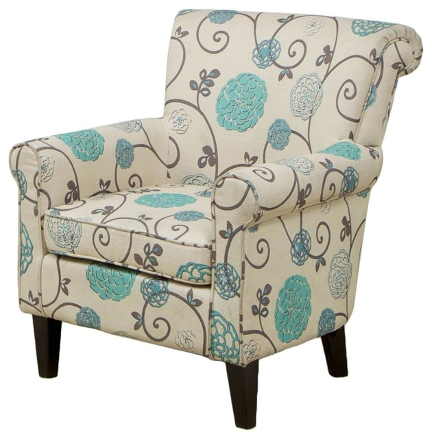 Superb Bristol Floral Club Chair Gmtry Best Dining Table And Chair Ideas Images Gmtryco
