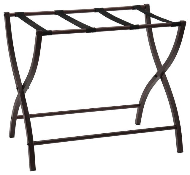 """Ari Metal Folding Luggage Rack, Bronze, 26""""."""
