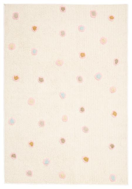 "White Dots Carousel Rug, 30""x50"""