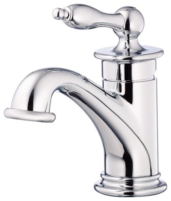 Danze Prince Single Hole Bathroom Faucet D236010 Chrome Traditional Bathroom   Sink Faucets
