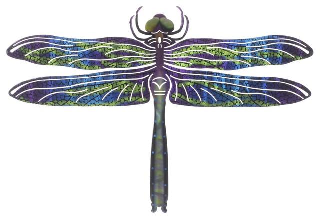 Wall Art Medium Dragonfly Blue