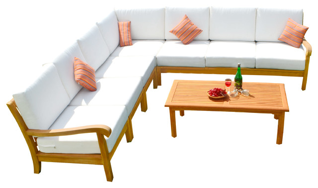 8 Piece Nain Teak Sectional Sofa Set
