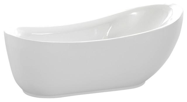 Talyah Series 5.92&x27; Freestanding Bathtub, White.
