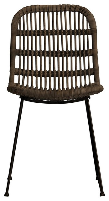 Santo Rattan Dining Chairs, Set of 2