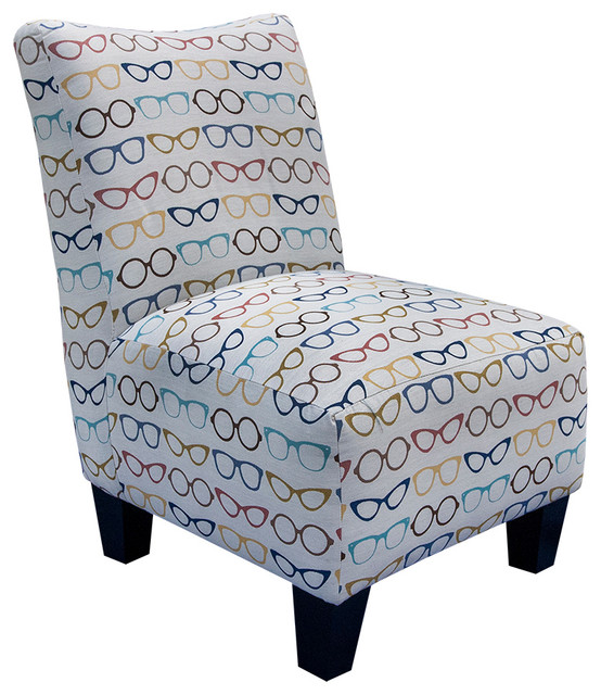 Armless Accent Chair Designer Eyeglass Armchairs And