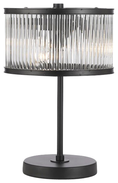 Delightful Crystal Rod Iron Table Lamp 1920s Essex Glass Accent