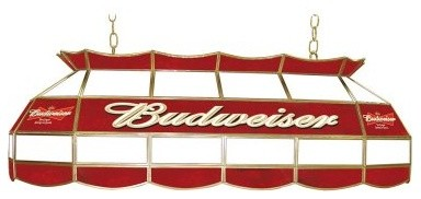 trademark budweiser stained glass 40 inch pool table light. Black Bedroom Furniture Sets. Home Design Ideas