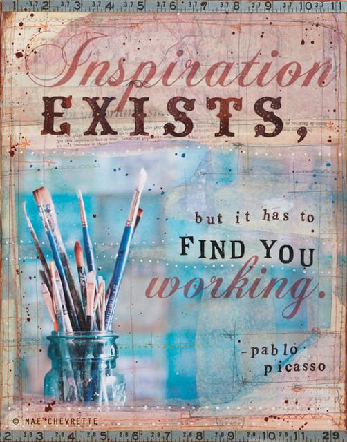 Inspiration Paper Print by Maechevrette Art