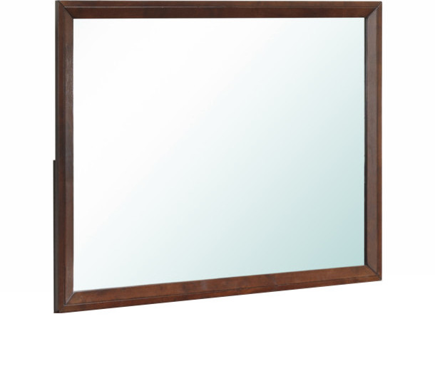 Global Furniture Mirror, Brown Cherry. -1