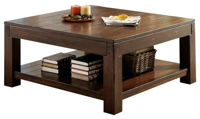 castlewood square cocktail table - craftsman - coffee tables -