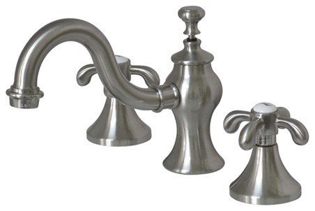 Water saving french country 8 widespread lavatory faucet brass pop up transitional for French style bathroom faucets