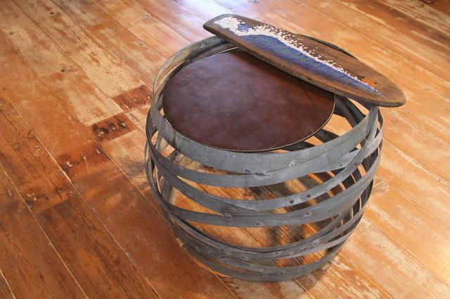 Wine Barrel Ring Coffee Table