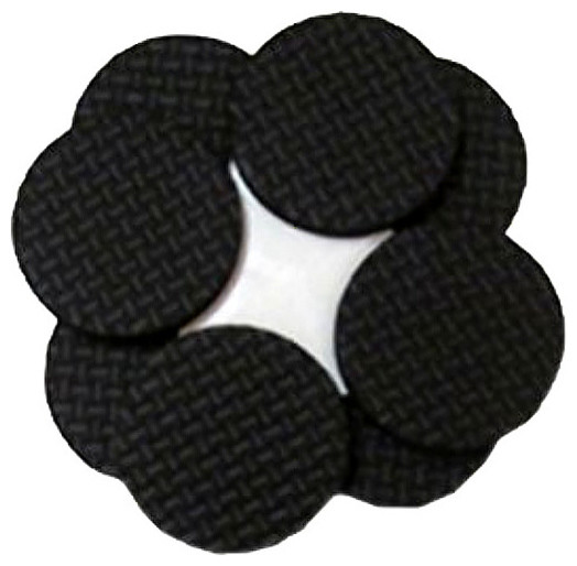 Magic Sliders Round Self Stick Gripper Pads 1 1/2 Inch Pack Of 8 #