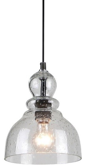 Industrial pendant with handblown clear seeded glass oil rubbed industrial pendant with handblown clear seeded glass oil rubbed bronze industrial pendant lighting aloadofball Images
