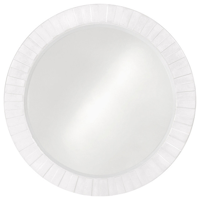 "Howard Elliott 6002w Serenity 34""x34"" White Mirror, White."