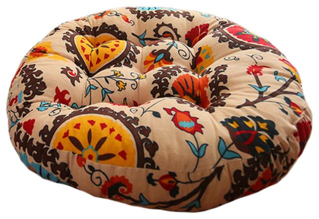 Quality Round Chair Cushion Floor Cushion Seat Pad Pillow Sunflower Mediterranean Seat Cushions By Blancho Bedding