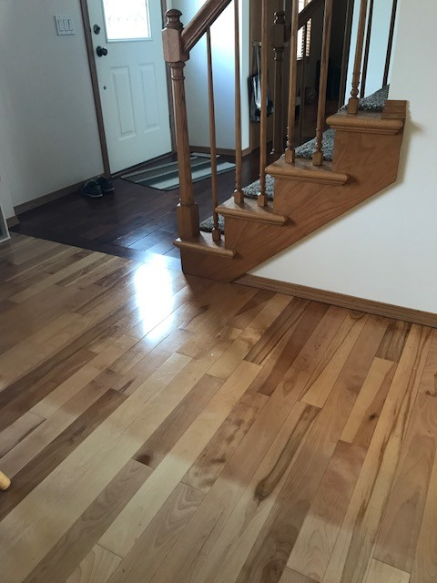 Well-liked What to do with my two toned wood flooring?? KC86