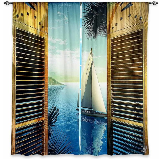DiaNoche Lined Window Curtains By Mark Watts Set Sail