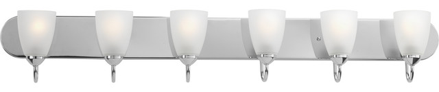 Progress Lighting 6-100W Medium Bath Bracket, Polished Chrome