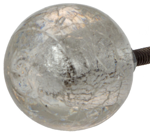 Cracked glass door knob from India