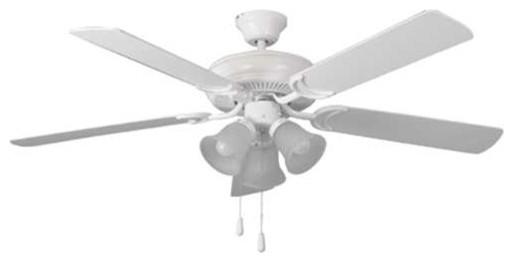 Bala 52 dual mount ceiling fan with 3 light kit white bala 52 dual mount ceiling fan with 3 light kit white traditional ceiling aloadofball Choice Image