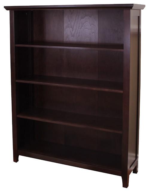 Lindendale 50h 4-Shelf  Bookcase, Espresso.
