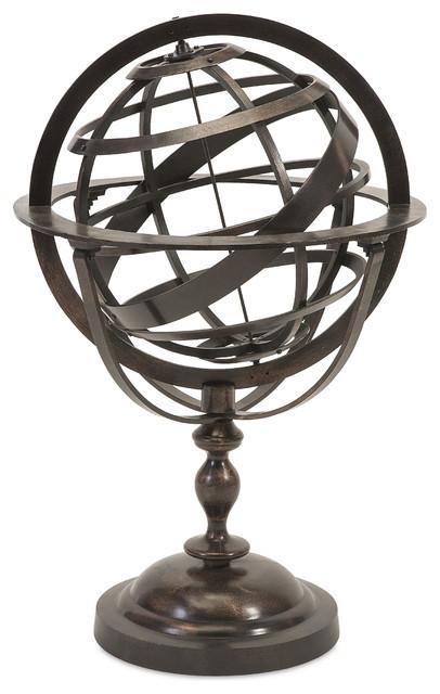 alexander metal globe traditional decorative objects and figurines - Decorative Globe