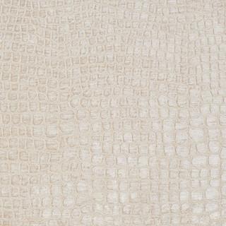 Cream Alligator Print Shiny Woven Velvet Upholstery Fabric
