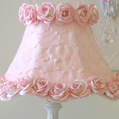 Pink Petals and Roses Lamp Shade traditional children lighting