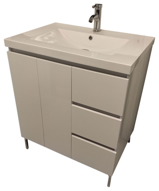 30 Modern Bathroom Vanity White Contemporary Bathroom Vanities And Sink Consoles By Wholesale Direct Unlimited Houzz