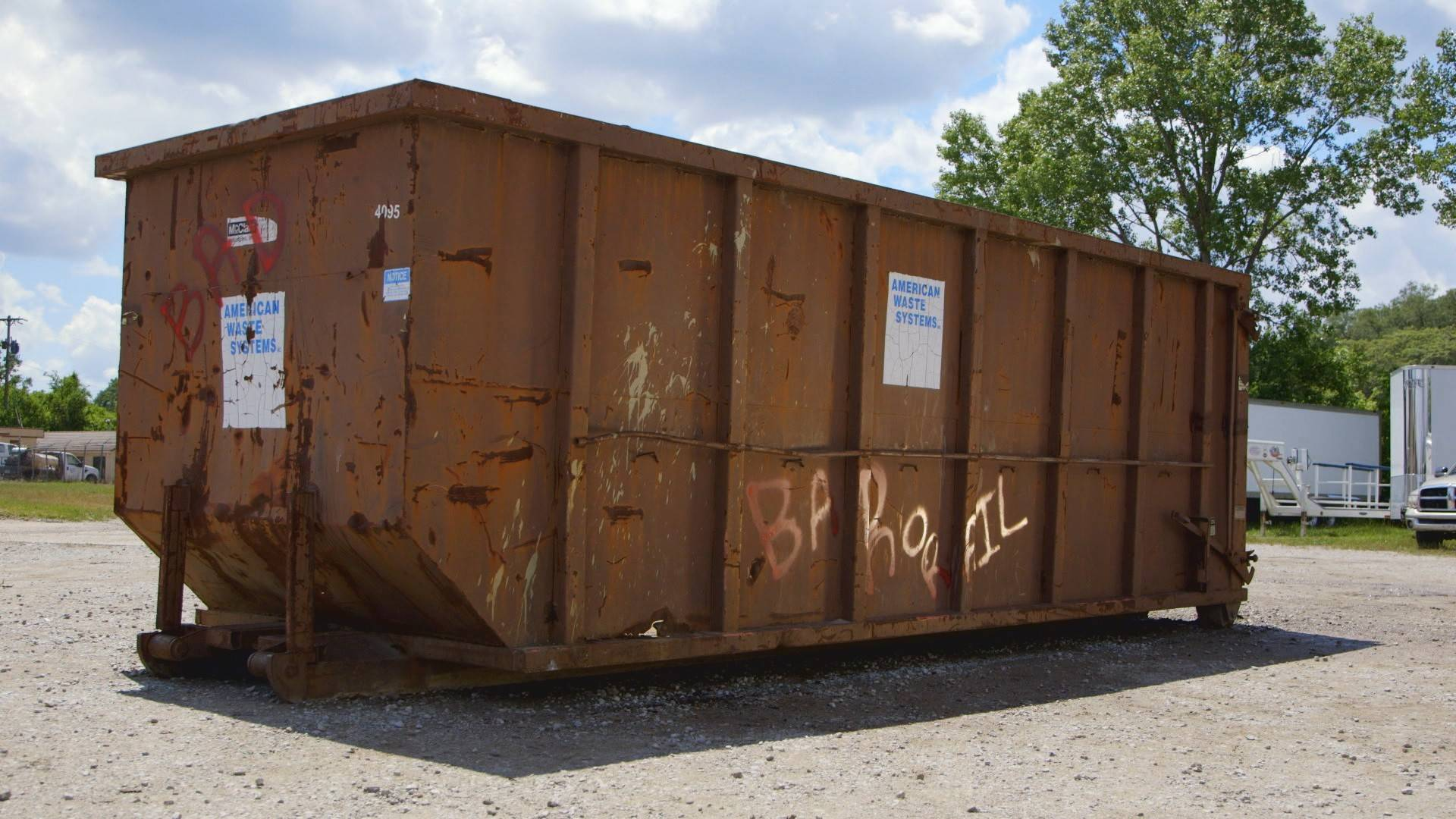 Dumpster turned tiny home